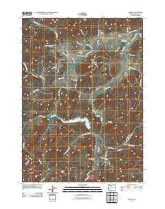 Tenmile Oregon Historical topographic map, 1:24000 scale, 7.5 X 7.5 Minute, Year 2011