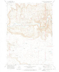 The Hole In The Ground Oregon Historical topographic map, 1:24000 scale, 7.5 X 7.5 Minute, Year 1972