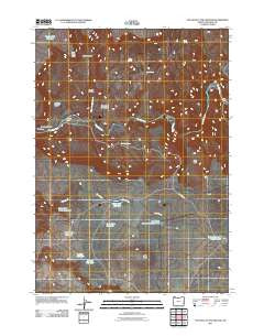 The Hole in the Ground Oregon Historical topographic map, 1:24000 scale, 7.5 X 7.5 Minute, Year 2011