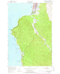 Tillamook Head Oregon Historical topographic map, 1:24000 scale, 7.5 X 7.5 Minute, Year 1949