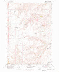 Tims Peak Oregon Historical topographic map, 1:24000 scale, 7.5 X 7.5 Minute, Year 1972
