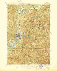Toledo Oregon Historical topographic map, 1:62500 scale, 15 X 15 Minute, Year 1942
