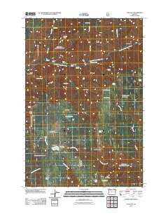 Tollgate Oregon Historical topographic map, 1:24000 scale, 7.5 X 7.5 Minute, Year 2011