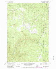 Trout Meadows Oregon Historical topographic map, 1:24000 scale, 7.5 X 7.5 Minute, Year 1972