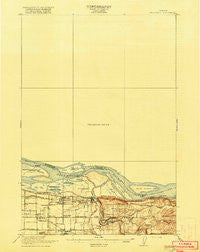Troutdale Washington Historical topographic map, 1:62500 scale, 15 X 15 Minute, Year 1918