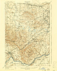 Tualatin Oregon Historical topographic map, 1:62500 scale, 15 X 15 Minute, Year 1916