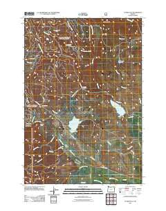 Tucker Flat Oregon Historical topographic map, 1:24000 scale, 7.5 X 7.5 Minute, Year 2011