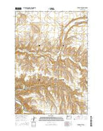 Turner Butte Oregon Current topographic map, 1:24000 scale, 7.5 X 7.5 Minute, Year 2014 from Oregon Map Store
