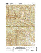 Turner Creek Oregon Current topographic map, 1:24000 scale, 7.5 X 7.5 Minute, Year 2014 from Oregon Map Store