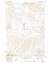 Unity Oregon Historical topographic map, 1:24000 scale, 7.5 X 7.5 Minute, Year 1972