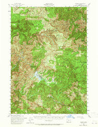 Valsetz Oregon Historical topographic map, 1:62500 scale, 15 X 15 Minute, Year 1956