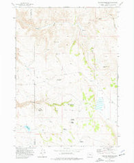 Venator Reservoir Oregon Historical topographic map, 1:24000 scale, 7.5 X 7.5 Minute, Year 1972