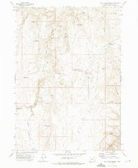Wall Rock Springs Oregon Historical topographic map, 1:24000 scale, 7.5 X 7.5 Minute, Year 1972
