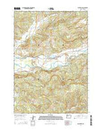 Walterville Oregon Current topographic map, 1:24000 scale, 7.5 X 7.5 Minute, Year 2014 from Oregon Map Store