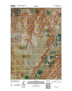 Ward Butte Oregon Historical topographic map, 1:24000 scale, 7.5 X 7.5 Minute, Year 2011