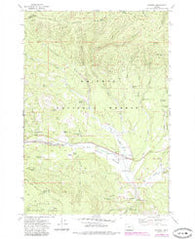 Whitney Oregon Historical topographic map, 1:24000 scale, 7.5 X 7.5 Minute, Year 1972