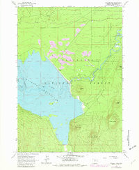 Wickiup Dam Oregon Historical topographic map, 1:24000 scale, 7.5 X 7.5 Minute, Year 1963