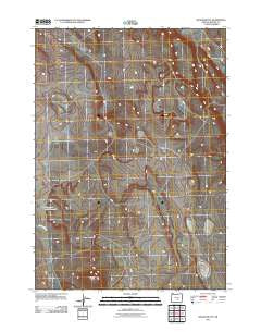 Wilson Butte Oregon Historical topographic map, 1:24000 scale, 7.5 X 7.5 Minute, Year 2011