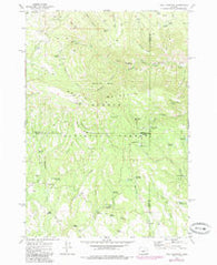 Wolf Mountain Oregon Historical topographic map, 1:24000 scale, 7.5 X 7.5 Minute, Year 1972