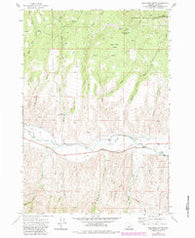 Wolfinger Butte Oregon Historical topographic map, 1:24000 scale, 7.5 X 7.5 Minute, Year 1972