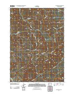 Yellow Butte Oregon Historical topographic map, 1:24000 scale, 7.5 X 7.5 Minute, Year 2011