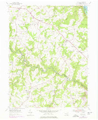 Airville Pennsylvania Historical topographic map, 1:24000 scale, 7.5 X 7.5 Minute, Year 1955