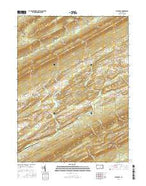 Alfarata Pennsylvania Current topographic map, 1:24000 scale, 7.5 X 7.5 Minute, Year 2016 from Pennsylvania Map Store