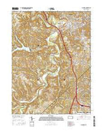 Aliquippa Pennsylvania Current topographic map, 1:24000 scale, 7.5 X 7.5 Minute, Year 2016 from Pennsylvania Map Store