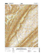 Allensville Pennsylvania Current topographic map, 1:24000 scale, 7.5 X 7.5 Minute, Year 2016 from Pennsylvania Map Store