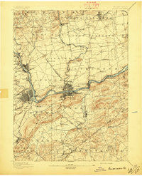 Allentown Pennsylvania Historical topographic map, 1:62500 scale, 15 X 15 Minute, Year 1894