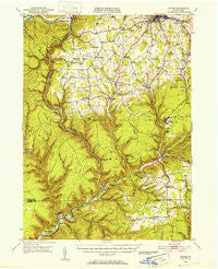 Antrim Pennsylvania Historical topographic map, 1:62500 scale, 15 X 15 Minute, Year 1946