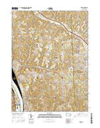 Baden Pennsylvania Current topographic map, 1:24000 scale, 7.5 X 7.5 Minute, Year 2016 from Pennsylvania Map Store