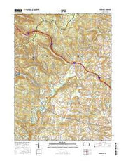Bakersville Pennsylvania Current topographic map, 1:24000 scale, 7.5 X 7.5 Minute, Year 2016 from Pennsylvania Maps Store
