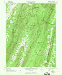 Beans Cove Pennsylvania Historical topographic map, 1:24000 scale, 7.5 X 7.5 Minute, Year 1967