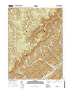 Bear Knob Pennsylvania Current topographic map, 1:24000 scale, 7.5 X 7.5 Minute, Year 2016 from Pennsylvania Map Store