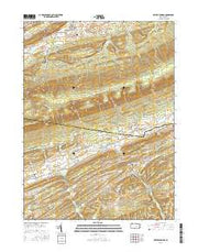 Beaver Springs Pennsylvania Current topographic map, 1:24000 scale, 7.5 X 7.5 Minute, Year 2016 from Pennsylvania Maps Store