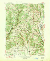 Benton Pennsylvania Historical topographic map, 1:31680 scale, 7.5 X 7.5 Minute, Year 1947