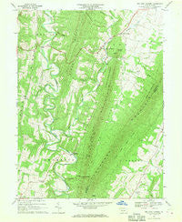 Big Cove Tannery Pennsylvania Historical topographic map, 1:24000 scale, 7.5 X 7.5 Minute, Year 1967