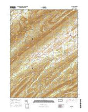 Blain Pennsylvania Current topographic map, 1:24000 scale, 7.5 X 7.5 Minute, Year 2016 from Pennsylvania Maps Store