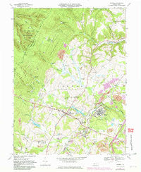 Boswell Pennsylvania Historical topographic map, 1:24000 scale, 7.5 X 7.5 Minute, Year 1967