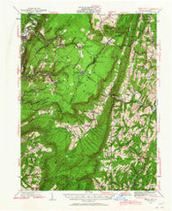 Broad Top Pennsylvania Historical topographic map, 1:62500 scale, 15 X 15 Minute, Year 1930