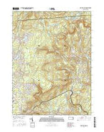 Buck Hill Falls Pennsylvania Current topographic map, 1:24000 scale, 7.5 X 7.5 Minute, Year 2016 from Pennsylvania Map Store