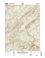 Buckingham Pennsylvania Current topographic map, 1:24000 scale, 7.5 X 7.5 Minute, Year 2016 from Pennsylvania Map Store