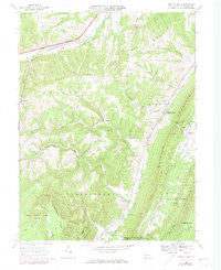 Buffalo Mills Pennsylvania Historical topographic map, 1:24000 scale, 7.5 X 7.5 Minute, Year 1967