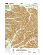 Bullis Mills Pennsylvania Current topographic map, 1:24000 scale, 7.5 X 7.5 Minute, Year 2016 from Pennsylvania Map Store
