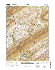 Burnham Pennsylvania Current topographic map, 1:24000 scale, 7.5 X 7.5 Minute, Year 2016 from Pennsylvania Maps Store
