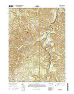 Burnside Pennsylvania Current topographic map, 1:24000 scale, 7.5 X 7.5 Minute, Year 2016 from Pennsylvania Map Store