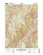 Carbondale Pennsylvania Current topographic map, 1:24000 scale, 7.5 X 7.5 Minute, Year 2016 from Pennsylvania Map Store