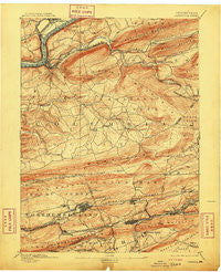 Catawissa Pennsylvania Historical topographic map, 1:62500 scale, 15 X 15 Minute, Year 1894