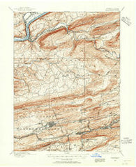 Catawissa Pennsylvania Historical topographic map, 1:62500 scale, 15 X 15 Minute, Year 1889